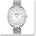 Swarovski Crystalline Glam Watch, Metal bracelet, White, Stainless steel