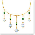 Swarovski Oz Necklace, White, Gold