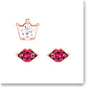 Swarovski Jewelry, Out of This World Pierced Earrings Kiss Red Crystal Mix