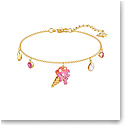 Swarovski Jewelry, No Regrets Bracelet Multi Colored Gold Medium