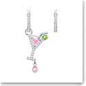 Swarovski Jewelry, No Regrets Pierced Earrings Small Cocktail Multi Colored Rhodium Silver
