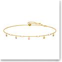 Swarovski Jewelry, No Regrets Necklace Dangling Multi Colored Gold