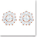 Swarovski Sunshine Pierced Earrings, White, Rose Gold