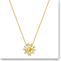 Swarovski Jewelry, Olive Pendant Round Golden Color Crystal Gold