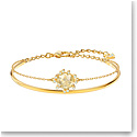 Swarovski Jewelry, Olive Bangle Round Golden Color Crystal Gold Medium