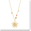Swarovski Jewelry, Lucky Goddess Necklace Star Multi Colored Gold