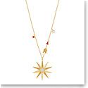 Swarovski Jewelry, Lucky Goddess Necklace Star Multi Colored Gold