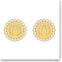 Swarovski Jewelry, Lucky Goddess Clip Earrings Maxi Crystal Gold