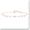 Swarovski Jewelry, One Necklace Choker Pink Crystal Rose Gold