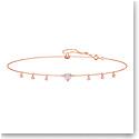 Swarovski Jewelry, One Necklace Choker Pink Crystal Rose Gold