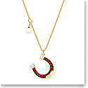 Swarovski Jewelry, Lucky Goddess Necklace Horse S Multi Colored Gold
