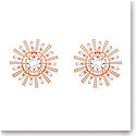 Swarovski Jewelry, Sunshine Clip Earrings Large Crystal Rose Gold