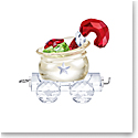 Swarovski First Steps Santas Gift Bag Wagon