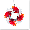 Swarovski Winter Sparkle Leaf Wreath Ornament 2019