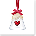 Swarovski Joyful Christmas Bell Ornament 2019 Heart
