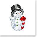 Swarovski Joyful Figurines Snowman With Candy Cane