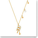 Swarovski Jewelry, No Regrets Pendant Ice Cream Multi Colored Gold