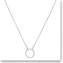 Swarovski Jewelry, Only Necklace Round Crystal Rhodium Silver