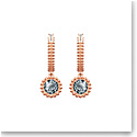 Swarovski Jewelry, Oxygen Pierced Earrings Hoop Crystal Sini Rose Gold