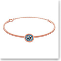 Swarovski Jewelry, Oxygen Bangle Crystal Aqua Rose Gold Medium