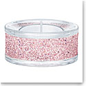 Swarovski Shimmer Pink Tea Light Holder, Single