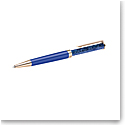Swarovski Crystalline Ballpoint Pen, Blue, Rose Gold