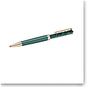 Swarovski Crystalline Ballpoint Pen, Green, Rose Gold