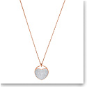 Swarovski Jewelry, Ginger Pendant Heart Medium Crystal Rose Gold