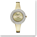 Swarovski Crystal Rose Watch, Metal Bracelet, Golden, Champagne-gold tone