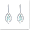 Swarovski Sparkling Dance Pierced Earrings, Green, Rhodium