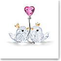Swarovski Love Birds Couple Pink Heart