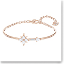 Swarovski Symbolic Bangle, White, Rose Gold