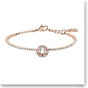 Swarovski Sparkling Dance Bangle, White, Rose Gold