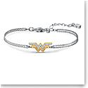 Swarovski Warner Bros. Bracelet Fit WW Cord Crystal Rhodium Silver M