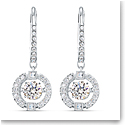 Swarovski Sparkling Dance Pierced Earrings Drop Crystal Rhodium Silver