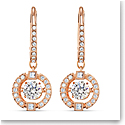 Swarovski Sparkling Dance Pierced Earrings Drop Crystal Rose Gold 2.0
