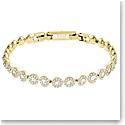 Swarovski Angelic Bracelet, White, Gold