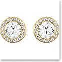 Swarovski Angelic Stud Pierced Earrings, White, Gold