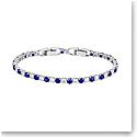 Swarovski Tennis Deluxe Bracelet, Blue, Rhodium