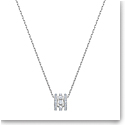 Swarovski Further Pendant, White, Rhodium