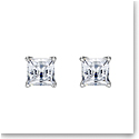 Swarovski Attract Pierced Earrings, White, Rhodium