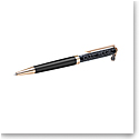 Swarovski Crystalline Black Ballpoint Pen with Feather