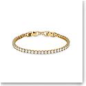Swarovski Bracelet Tennis Deluxe Round Deluxe Gold M