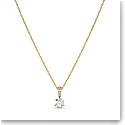 Swarovski Necklace Solitaire Pendant 7mm Gold
