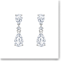 Swarovski Palace Pierced Earrings Drop Crystal Rhodium Silver