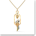 Swarovski Necklace Tropical Necklace Parrot Light Multi Gold