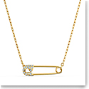 Swarovski Necklace So Cool Pendant Safetypin Gold