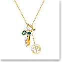 Swarovski Necklace Symbol Pendant Hand Ohm Light Multi Gold