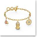 Swarovski Bracelet Symbol Ch Buddha Light Multi Gold M