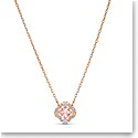 Swarovski Necklace Sparkling Dance Necklace Crystal Rose Gold